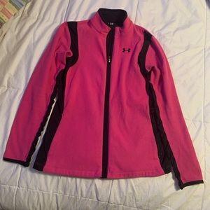 Women's under armor fleece jacket size Small